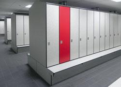 Garderobenschränke Block 1